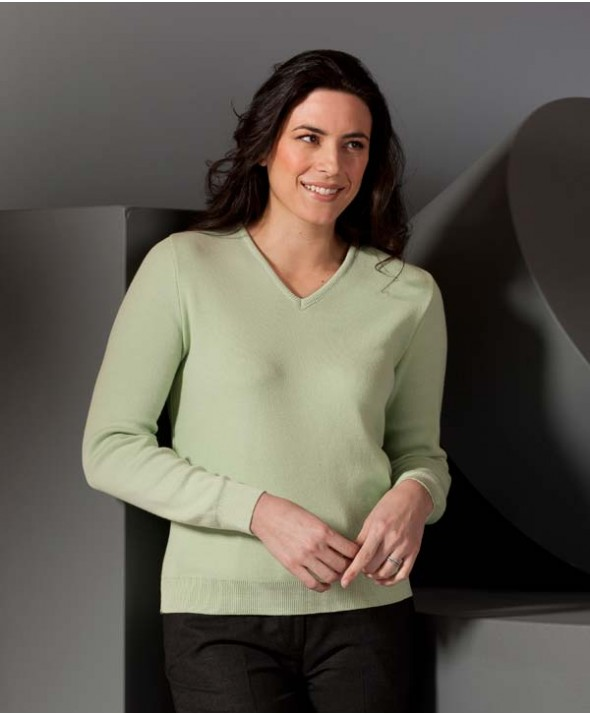 Edwards Garment 090 Women's Cotton Cashmere V-Neck Sweaters