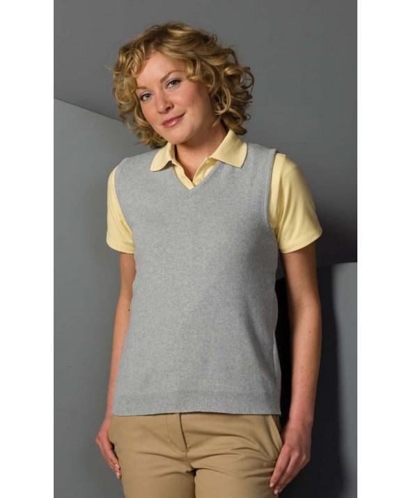 Edwards Garment 091 Women's Cotton Cashmere V-Neck Sweaters Vest
