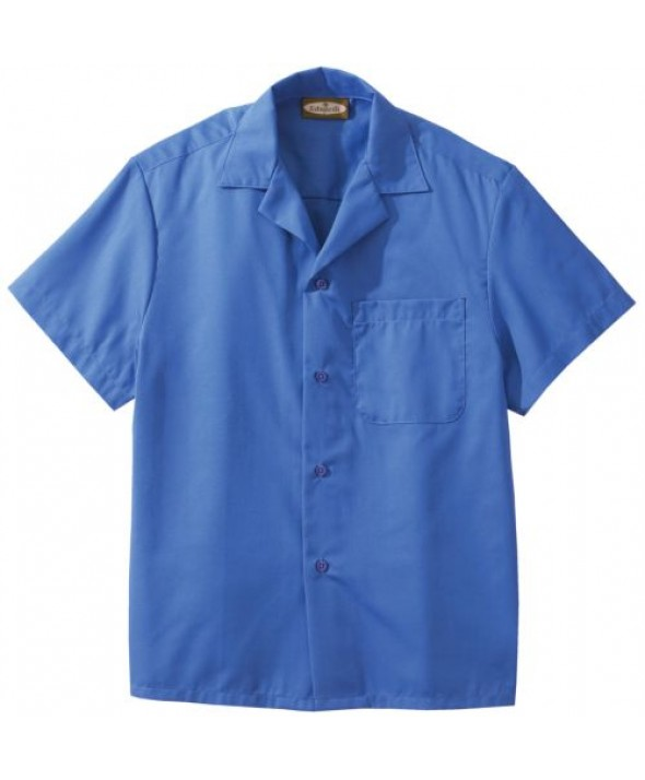 Edwards Garment 1029 Poplin Camp Shirts With Pocket (Short Sleeve)