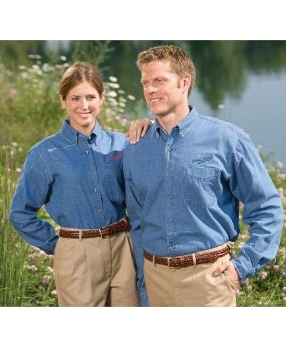 Edwards Garment 1090 Men's Denim Shirts (Long Sleeve)