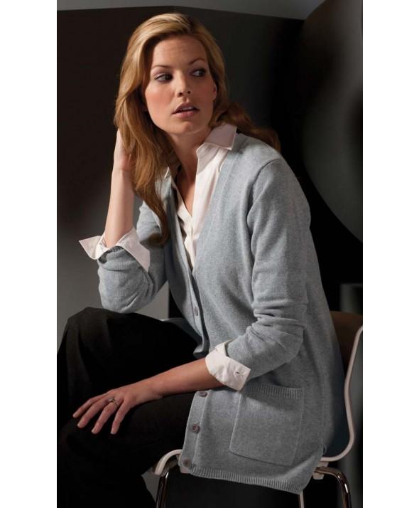 Edwards Garment 119 Women's Long V-Neck Cardigans
