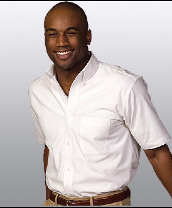 Edwards Garment 1245 Men's Easy Care Shirts (Short Sleeve)