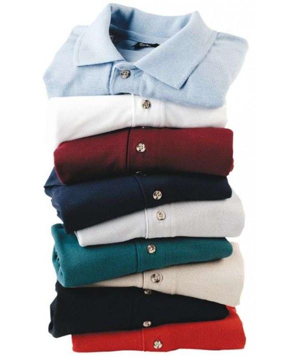 Edwards Garment 1471 Laundry Plus Pique Polos (Long Sleeve)