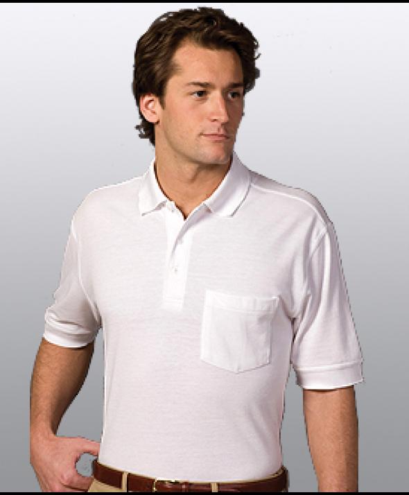Edwards Garment 1505 Unisex Pique Pocket  (Short Sleeve/Pocket)