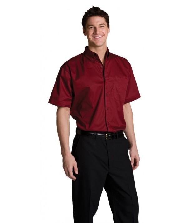 Edwards Garment 1740 Men's Cotton-Rich Twill Shirts (Short Sleeve)