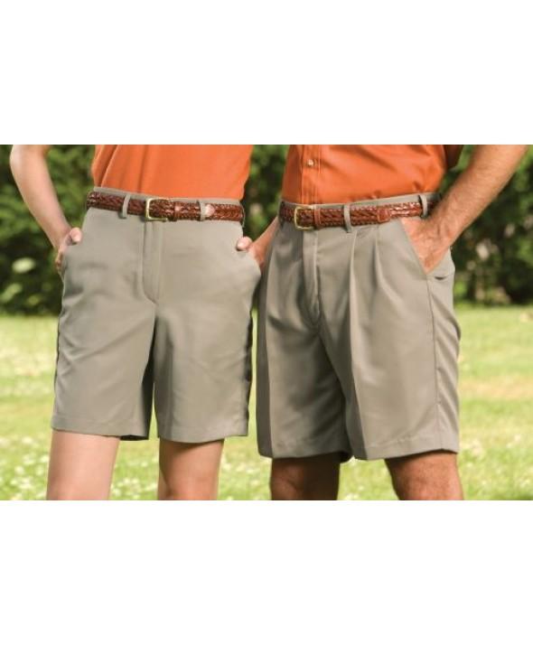 Edward 8422 Women's Flat Front Microfiber Shorts