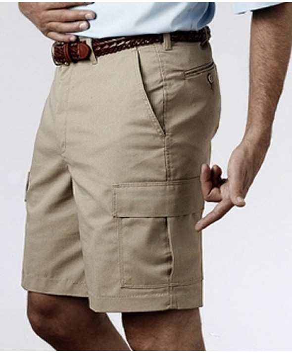Edward 2475 Men's Flat Front Cargo Shorts