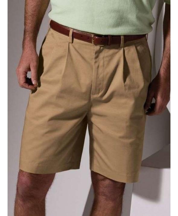 Edward 2477 Men's Utility Chino Shorts (Pleated Front)