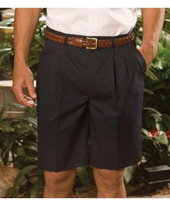 "Edward 2480 Men's Pleated Chino Shorts (11"" Inseam)"