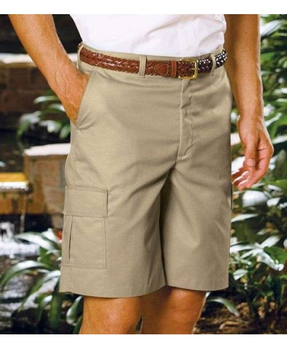 "Edward 2485 Men's Flat Front Cargo Shorts (11"" Inseam)"