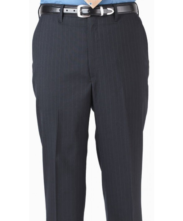 Edward 2560 Men's Stripe Suit Pant (Flat Front)