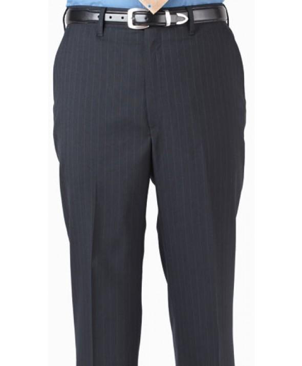 Edward 2560 Men's Stripe Suit Pant (Flat Front)