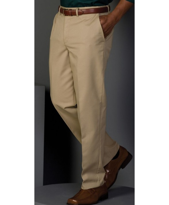 Edward 2578 Men's Flat Front Easy Fit Chino Pant