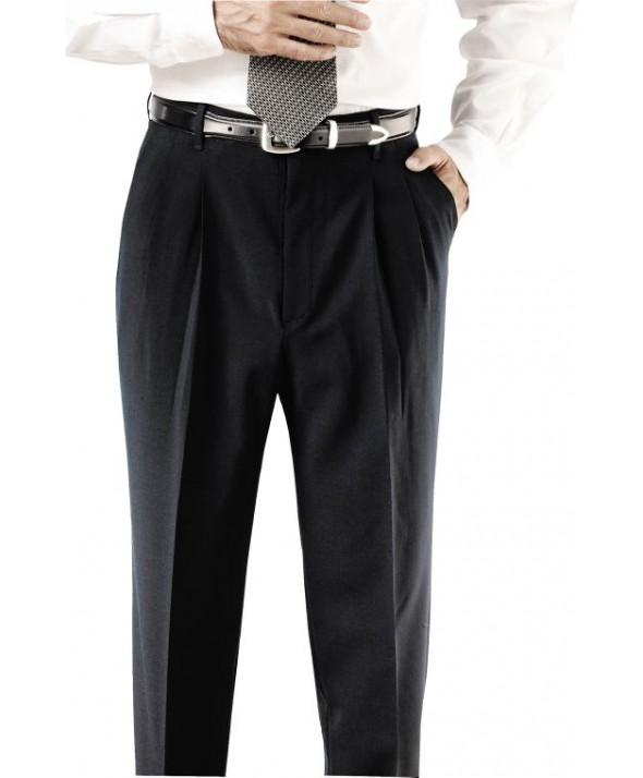 "Edward 2695 Men's Pleated Polyester Pant (No 35"" Or 37"" Waist)"