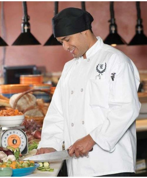 Edwards Garment 3300 Eight Button Chef Coat