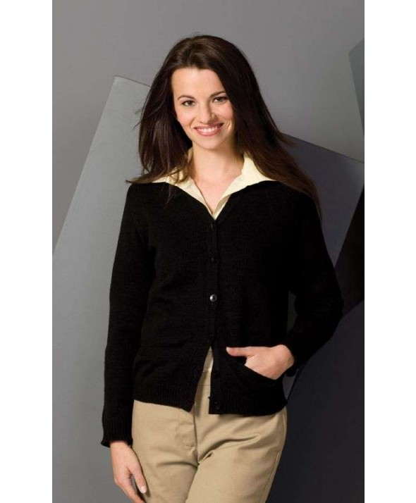 Edwards Garment 450 Women's V-Neck Cardigan Sweaters With Pockets