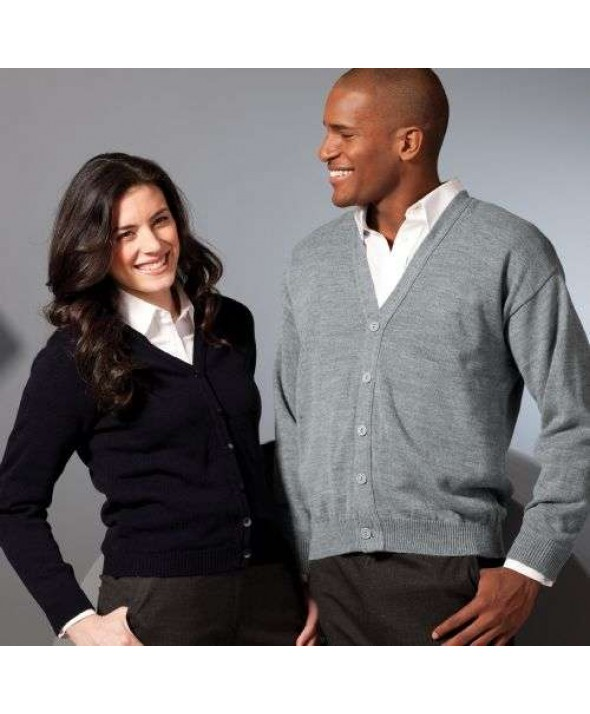 Edwards Garment 451 Women's V-Neck Cardigan Sweaters, No Pockets