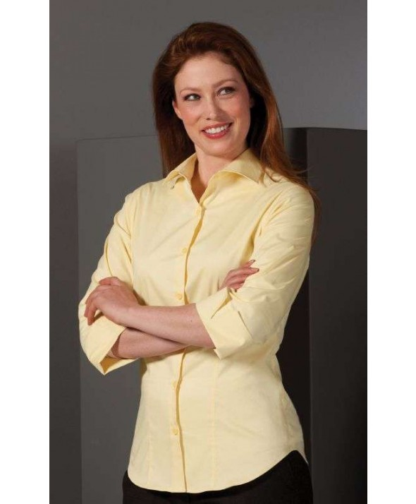 Edwards Garment 5033 Women's Sleeve Stretch Broadcloth Blouse