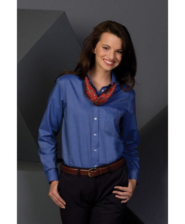 Edwards Garment 5077 Women's Oxford Shirts (Long Sleeve)