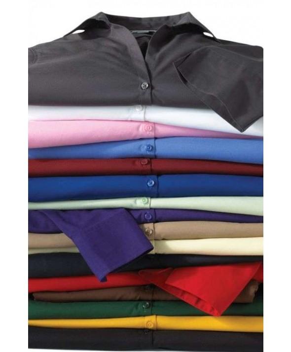 Edwards Garment 5245 Women's Open Neck Blouse (Short Sleeve)