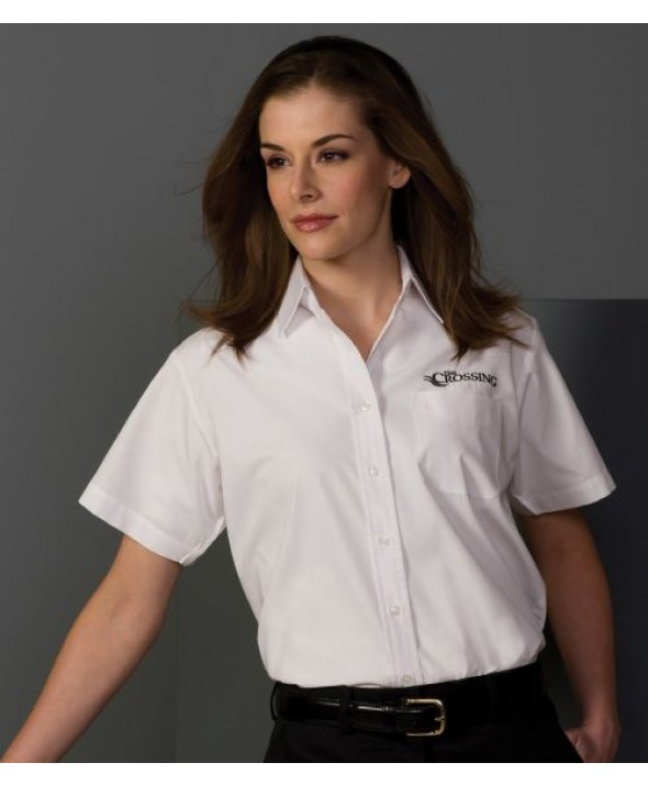 Edwards Garment 5313 Women's Broadcloth Performance Shirts (Short Sleeve)