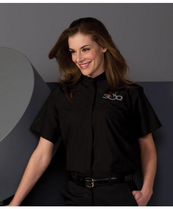 Edwards Garment 5346 Women's Banded Collar Shirts (Short Sleeve)