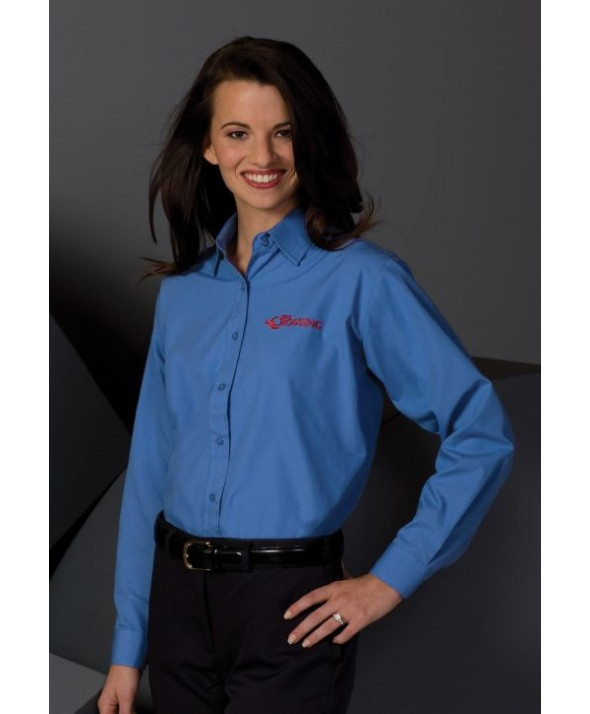 Edwards Garment 5363 Women's Broadcloth Performance Shirts (Long Sleeve)
