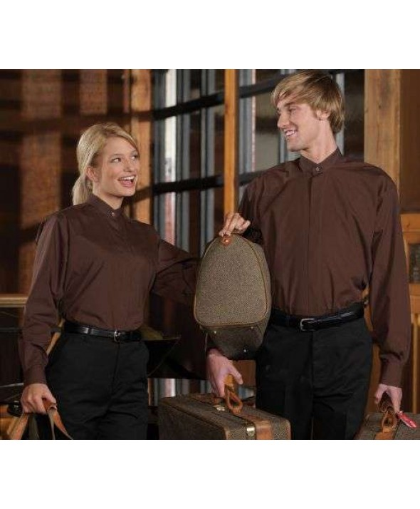Edwards Garment 1396 Men's Banded Collar Shirts (Long Sleeve)