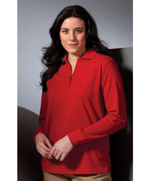 Edwards Garment 5515 Women's Long Sleeve Piques  (No Pocket)