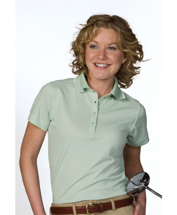 Edwards Garment 5575 Women's Dry-Mesh Performance  (Tipped Collar)