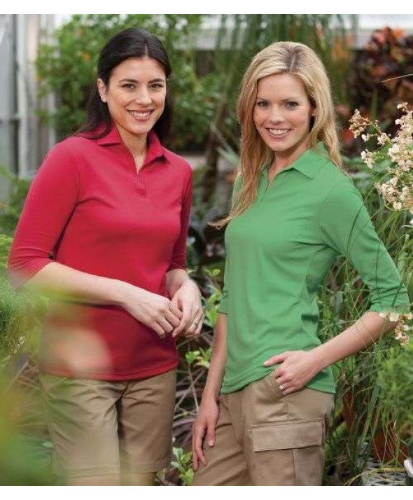 Edwards Garment 5640 Eco Women's 3/4 Sleeve Performance Polos