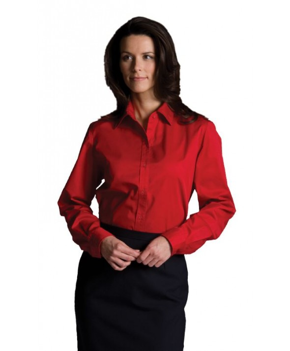Edwards Garment 5740 Women's Cotton-Rich Twill Shirtss (Short Sleeve)