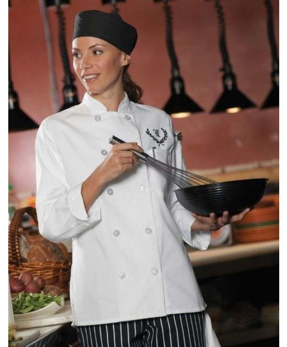 Edwards Garment 6301 Women's 10 Button Chef Coat