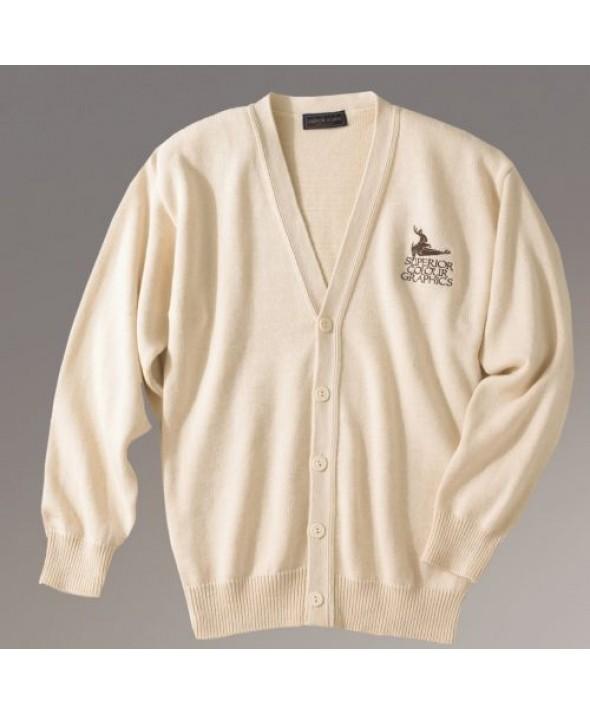 Edwards Garment 780 Jersey Stitch V-NeckCardigans