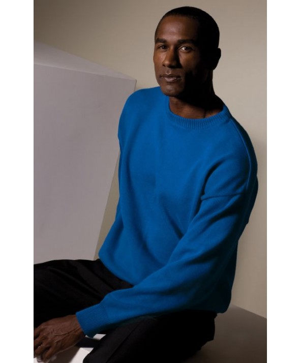 Edwards Garment 786 Jersey Stitch Crew Neck Pullover Sweaters