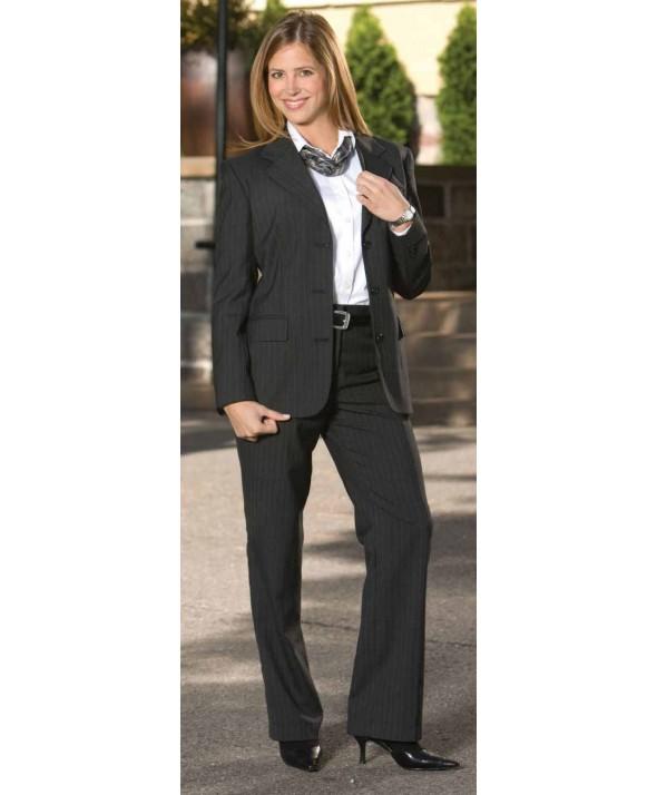 Edward 8569 Women's Pinstripe Flat Front Pant