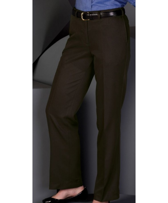 Edward 8572 Women's Flat Front Easy Fit Microfiber Pant