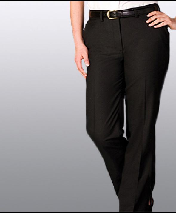 Edward 8783 Women's Solid Suit Pant (Flat Front)