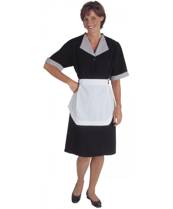 Edwards Garment 9896 Women's Solid Black Housekeeping Dress