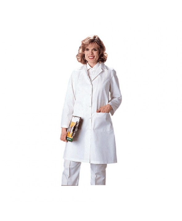 Eagle LAFGDC FEMALE GRIPPER LAB COAT