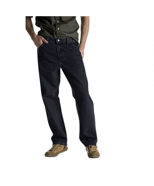 Dickies men's jean 5 pkt/paint/utility 13292RBB - Rinsed Overdyed Black