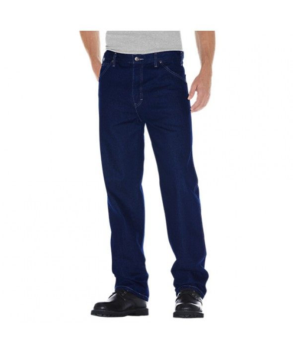 Dickies men's jean 5 pkt/paint/utility 13293RNB - Rinsed Indigo Blue