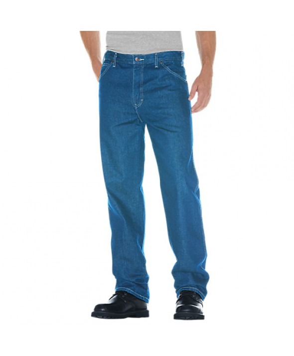 Dickies men's jean 5 pkt/paint/utility 13293SNB - Stonewashed Indigo Blue