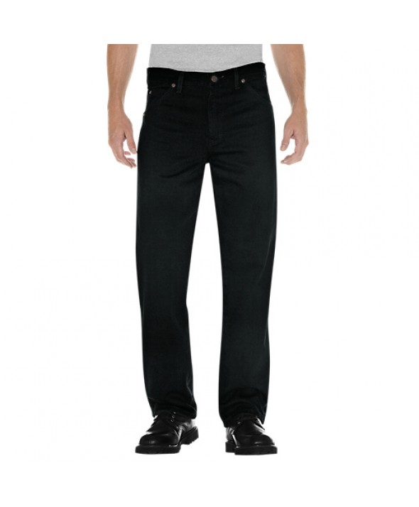 Dickies men's jean 5 pkt/paint/utility 17292RBB - Rinsed Overdyed Black