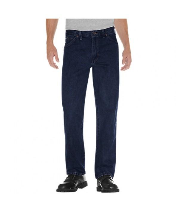 Dickies men's jean 5 pkt/paint/utility 17293RNB - Rinsed Indigo Blue
