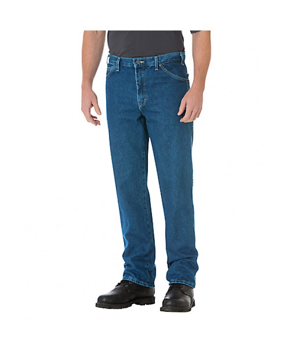 Dickies men's jean 5 pkt/paint/utility 17293SNB - Stonewashed Indigo Blue