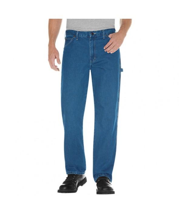 Dickies men's jean 5 pkt/paint/utility 19294SNB - Stonewashed Indigo Blue