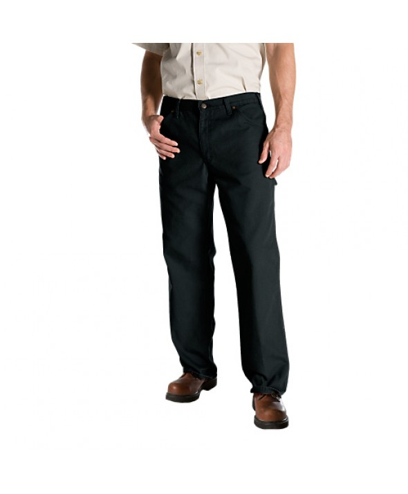 Dickies men's jean 5 pkt/paint/utility 1939RBK - Rinsed Black