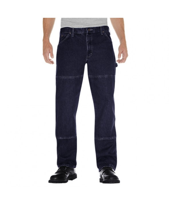Dickies men's jean 5 pkt/paint/utility 20694RNB - Rinsed Indigo Blue