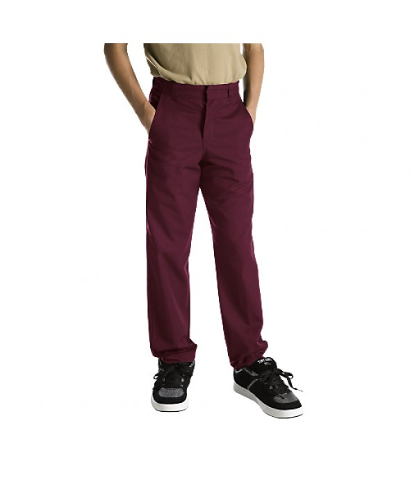 Dickies boy's pants 56062BY - Burgundy